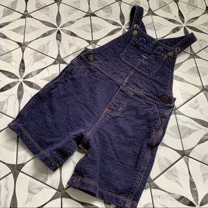 CARTERS | Denim Bear Overalls Shorts sz 24mo